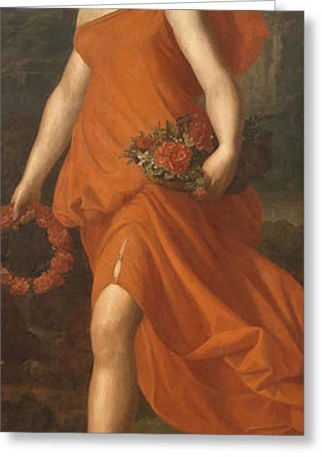 Flora Greeting Card by Ferdinand Georg Waldmueller