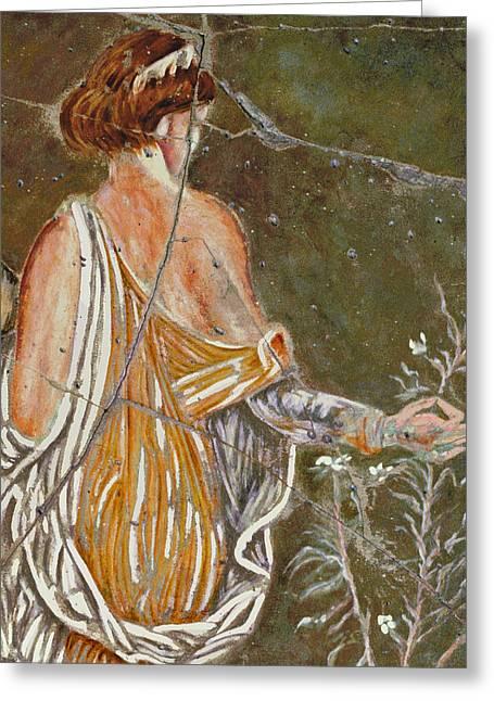 Italian Greeting Cards - Flora - Study No. 1 Greeting Card by Steve Bogdanoff