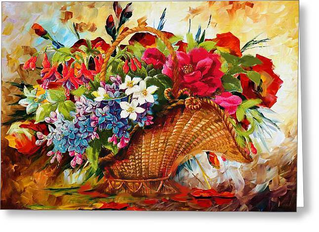 Floral 11 Greeting Card by Mahnoor Shah