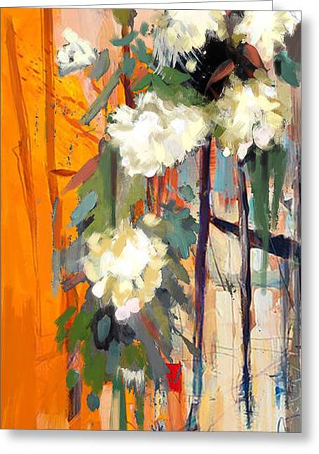 Lounge Paintings Greeting Cards - Floral 17 Greeting Card by Mahnoor Shah