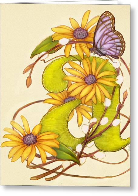Hunters Moon Greeting Cards - Floral A Greeting Card by Catherine Noel