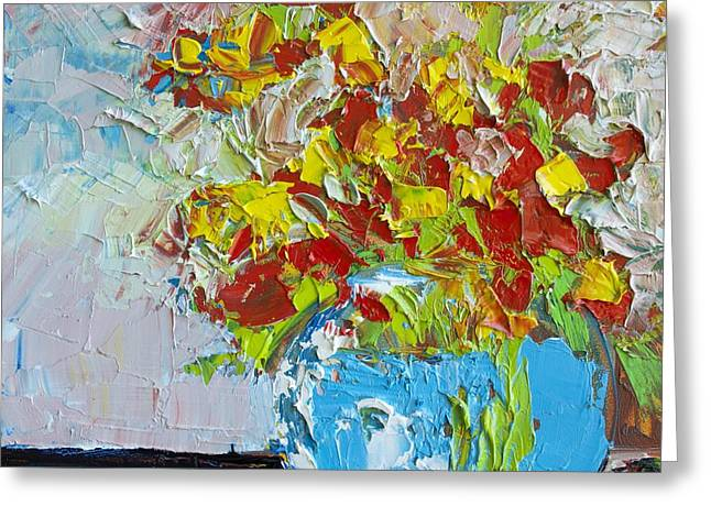 FLORAL ABSTRACT Greeting Card by Patricia Awapara