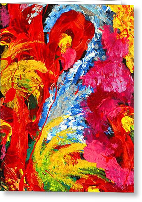 Surreal Geometric Greeting Cards - Floral Abstract Part 2 Greeting Card by Julia Apostolova