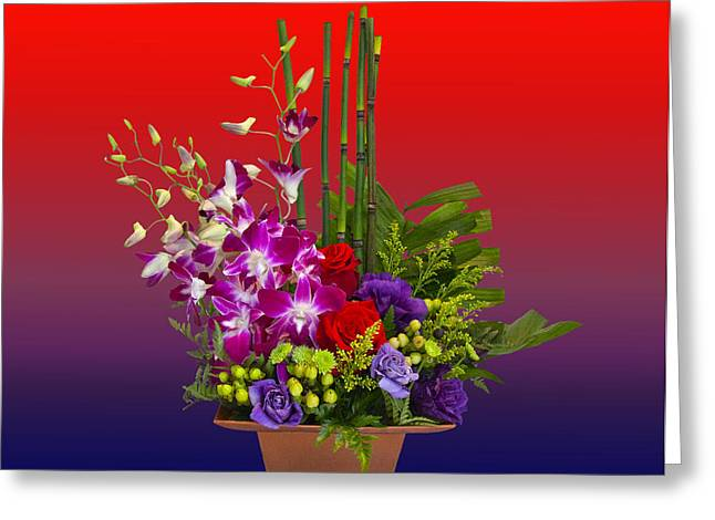 California Art Greeting Cards - Floral Arrangement Greeting Card by Chuck Staley