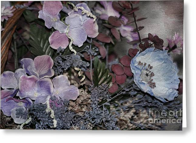 Artificial Flowers Greeting Cards - Floral Arrangement Greeting Card by Deborah Benoit