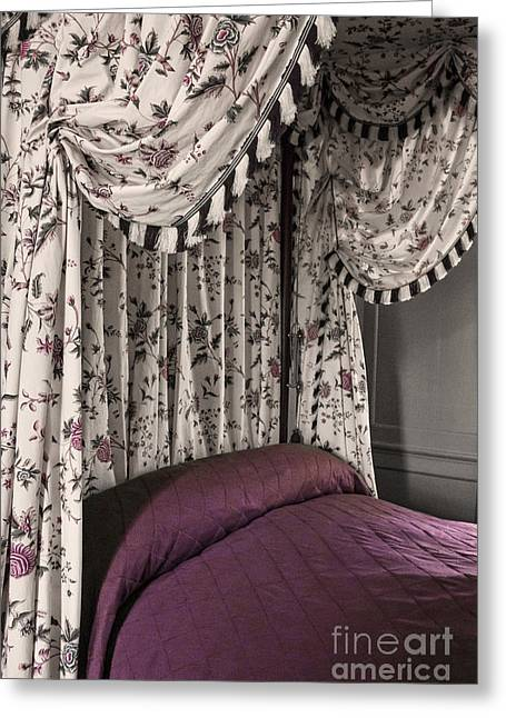 Houses Bed And Breakfast Greeting Cards - Floral Canopy Greeting Card by Margie Hurwich