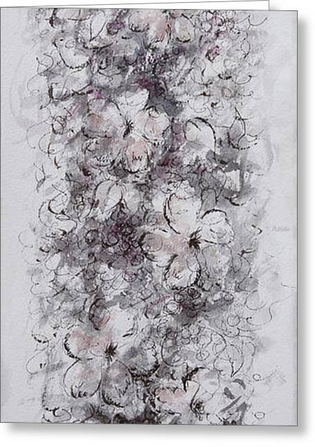 Vine Leaves Greeting Cards - Floral Cascade Greeting Card by Rachel Christine Nowicki