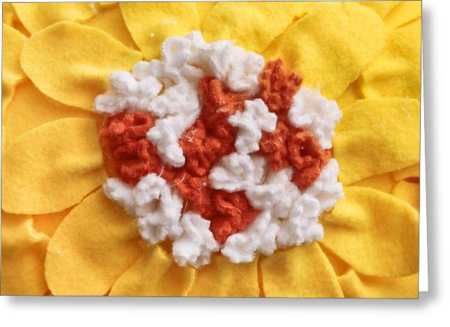 Cushion Photographs Greeting Cards - Floral cushion Greeting Card by Tom Gowanlock