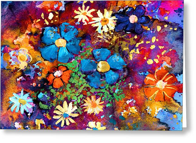 Floral dance fantasy Greeting Card by Svetlana Novikova