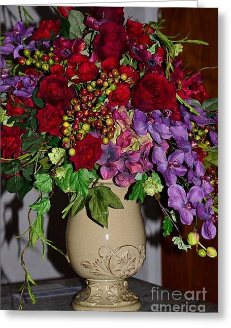 Floral Decor Greeting Card by Kathleen Struckle