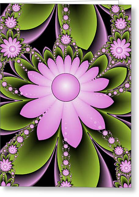 Bedroom Art Greeting Cards - Floral Decorations Greeting Card by Gabiw Art