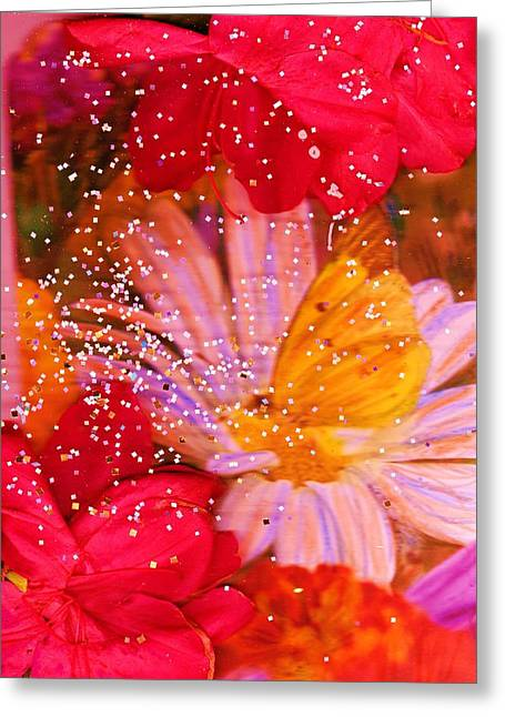 Floral Delight Greeting Card by Anne-Elizabeth Whiteway