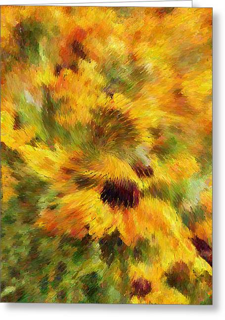 Abstract Art For Sale Digital Art Greeting Cards - Floral Explosion Abstract Greeting Card by Georgiana Romanovna