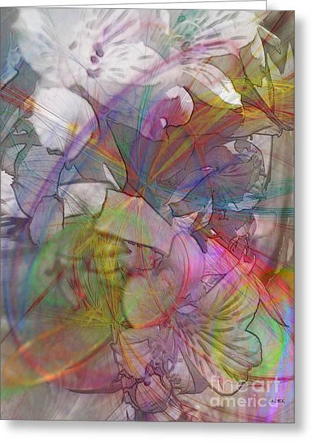 John Robert Beck Greeting Cards - Floral Fantasy Greeting Card by John Robert Beck