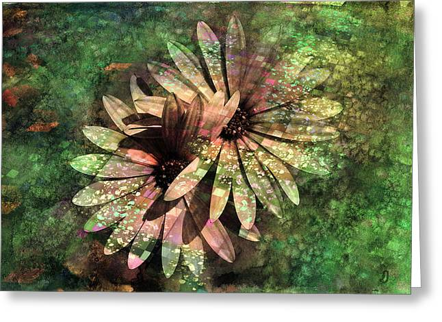 Textured Floral Greeting Cards - Floral Fiesta - s15c Greeting Card by Variance Collections