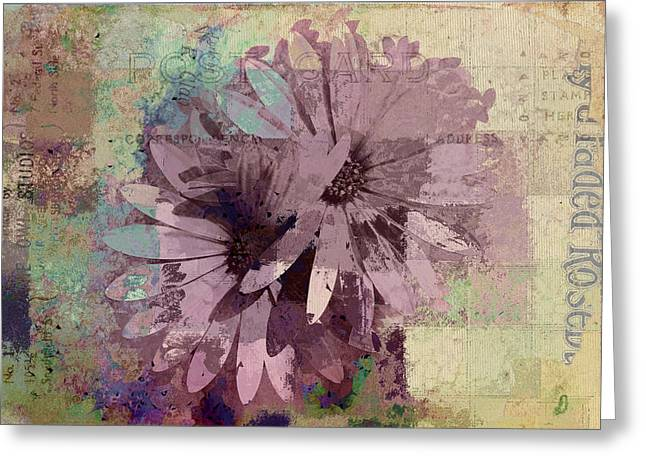 Vintage Floral Greeting Cards - Floral Fiesta - s23at08aa Greeting Card by Variance Collections
