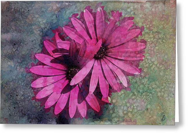 Textured Floral Greeting Cards - Floral Fiesta  Greeting Card by Variance Collections