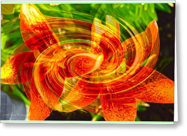 Undefined Greeting Cards - Floral Flow Greeting Card by Sonali Gangane
