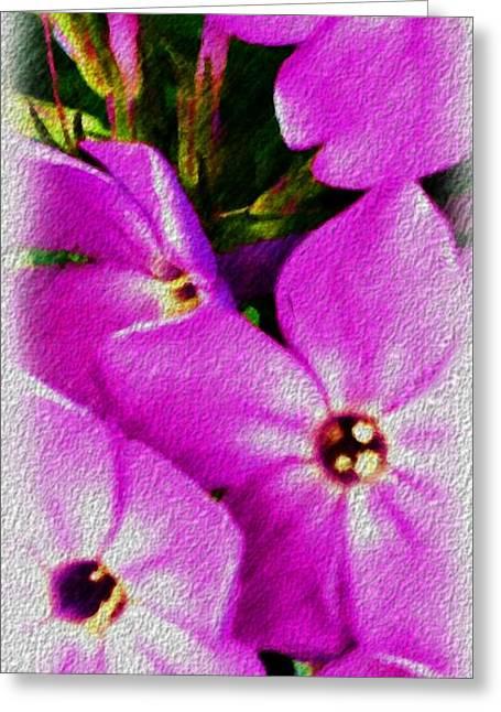 Floral Fun 012714 Greeting Card by David Lane