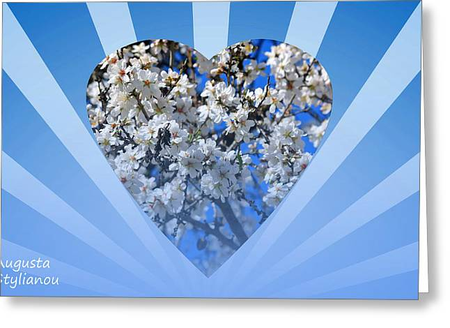 Star Valley Greeting Cards - Floral Heart Greeting Card by Augusta Stylianou