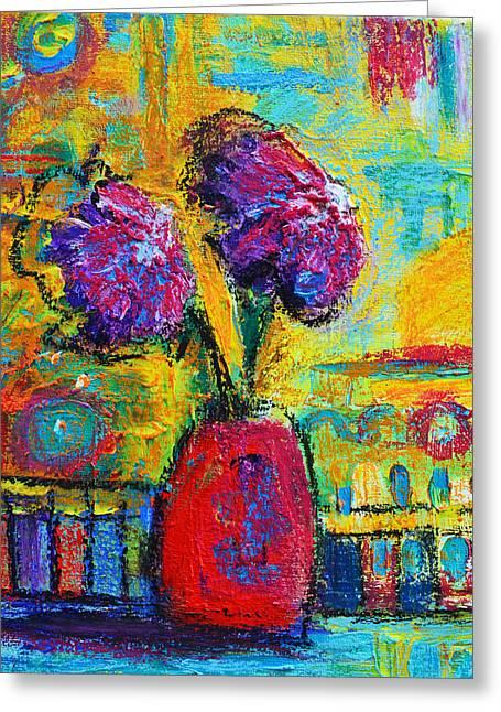 Interesting Pattern Greeting Cards - Floral No. 12 Greeting Card by Patricia Awapara