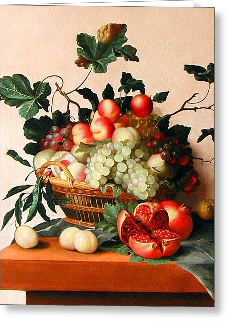 Apricot Greeting Cards - Floral Paintings FP16 Greeting Card by Munir Alawi