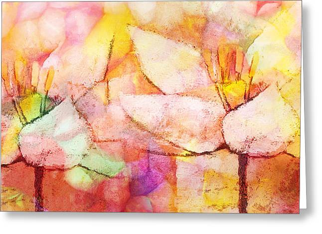 Souls Greeting Cards - Floral Panoramic Greeting Card by Lutz Baar