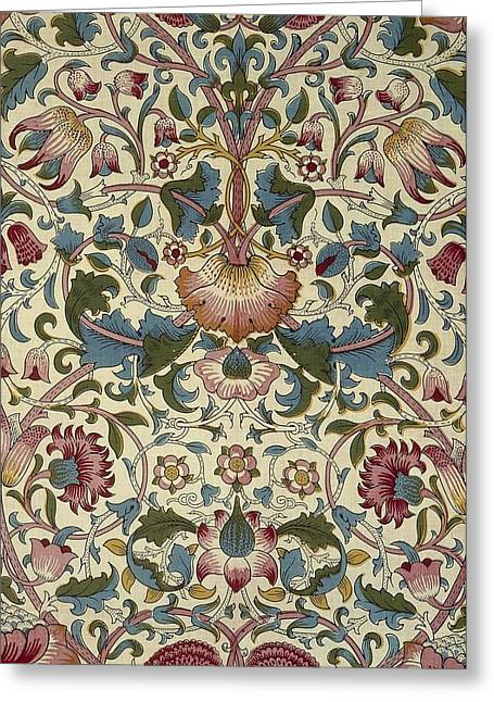 Old Tapestries - Textiles Greeting Cards - Floral Pattern Greeting Card by William Morris