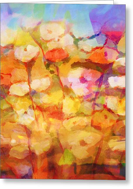 Floral Structure Greeting Cards - Floral Poem Greeting Card by Lutz Baar