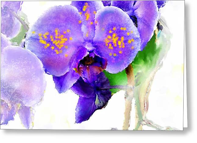 Floral series - Orchid Greeting Card by Moon Stumpp