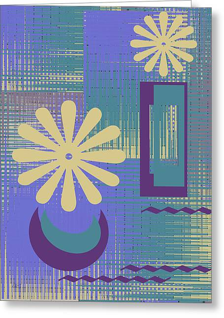 Violet Blue Greeting Cards - Floral Still Life In Purple Greeting Card by Ben and Raisa Gertsberg