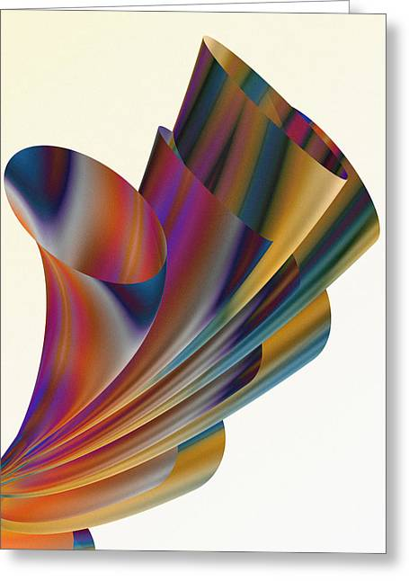 Abstracto Greeting Cards - Floral Trumpets Greeting Card by Hakon Soreide