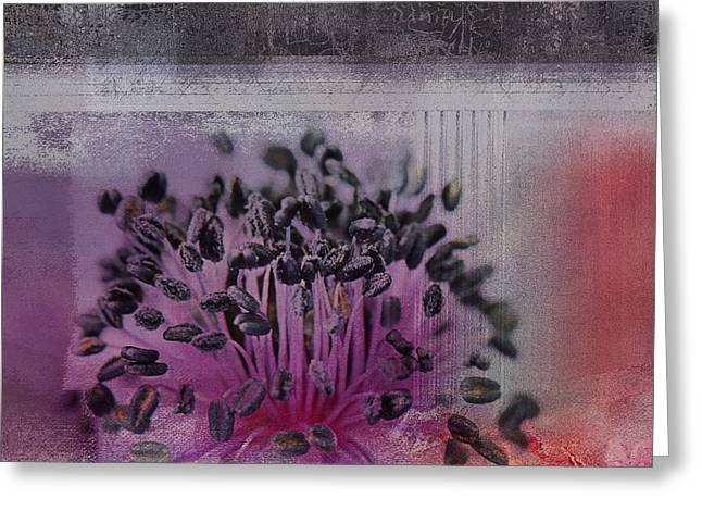 Textured Floral Greeting Cards - Floralart - 02b Greeting Card by Variance Collections