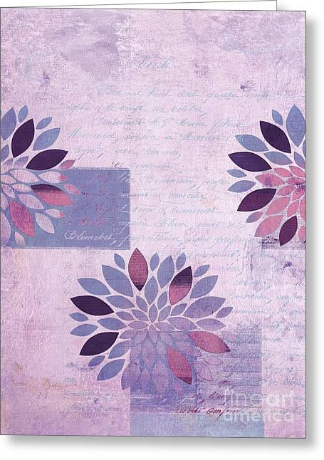 Textured Floral Greeting Cards - Floralis - 554a  Greeting Card by Variance Collections