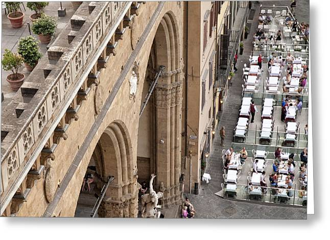 Florence and Piazza della Signoria Greeting Card by Melany Sarafis