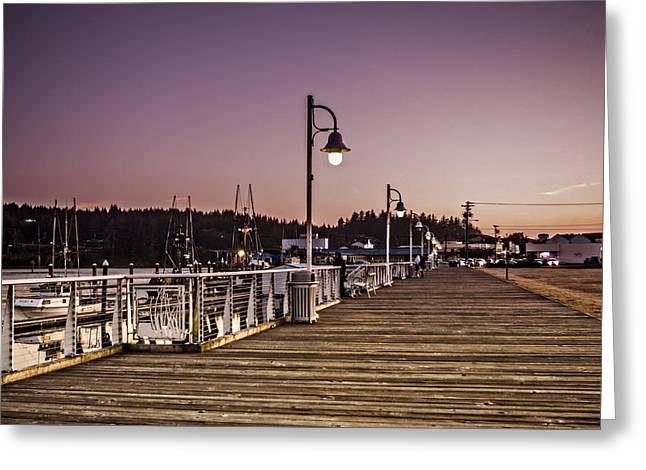 Florence Pyrography Greeting Cards - Florence Boardwalk Greeting Card by Adam Grunseth