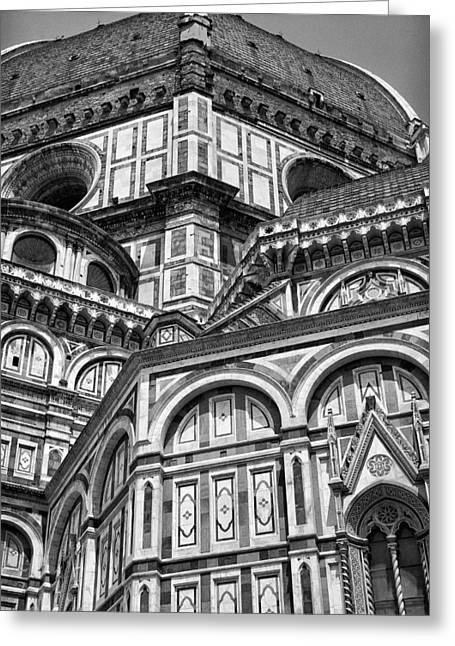 Portrait Sculpture Photograph Greeting Cards - Florence Cathedral and Brunelleschis Dome Greeting Card by Melany Sarafis