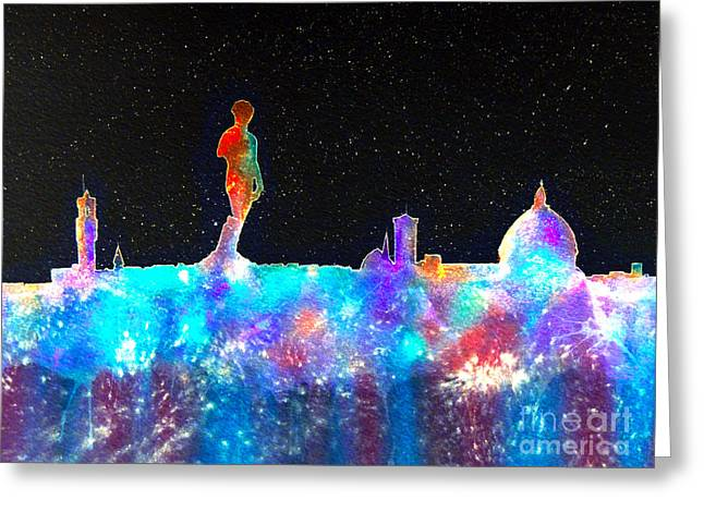 Michelangelo Greeting Cards - Florence Cosmos Greeting Card by Bill Holkham