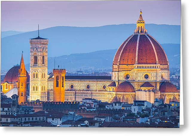 Olive Oil Greeting Cards - Florence Dome Greeting Card by Stefano Termanini