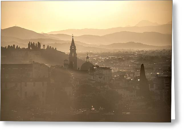 Michelangelo Greeting Cards - Florence dream.. Greeting Card by A Rey