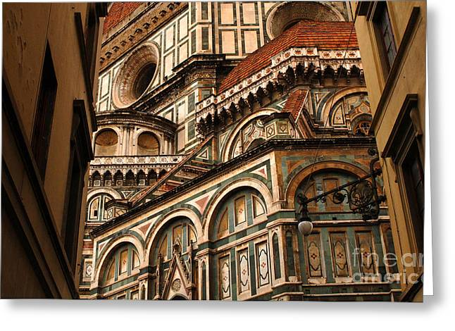Bob Christopher Greeting Cards - Florence Duomo Detail 1 Greeting Card by Bob Christopher