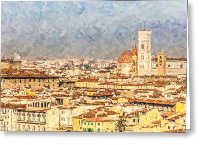 Tuscany Greeting Cards - Florence early morning Greeting Card by Liz Leyden