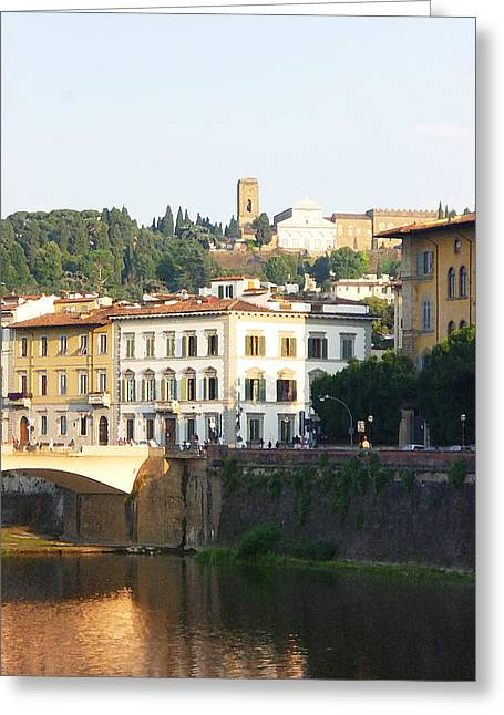 Travel Sketch Italy Greeting Cards - Florence Italy  Greeting Card by Irina Sztukowski
