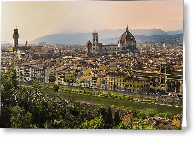 Famous Bridge Greeting Cards - Florence - Italy Greeting Card by Jon Berghoff
