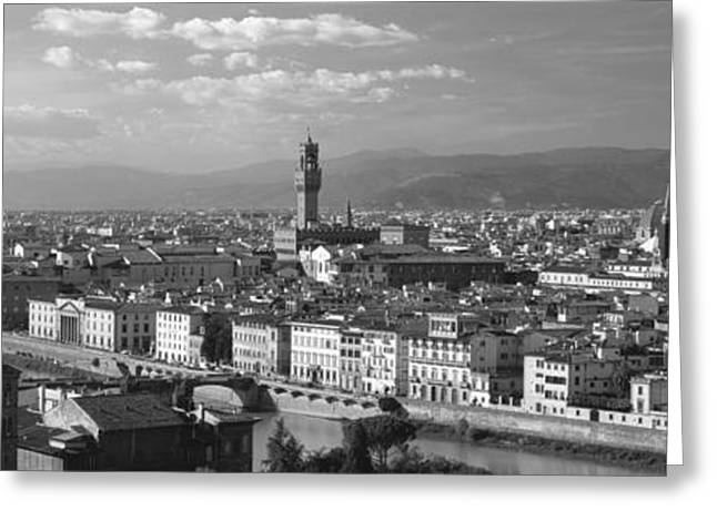 Landmark And Bridges Greeting Cards - Florence Italy Greeting Card by Panoramic Images