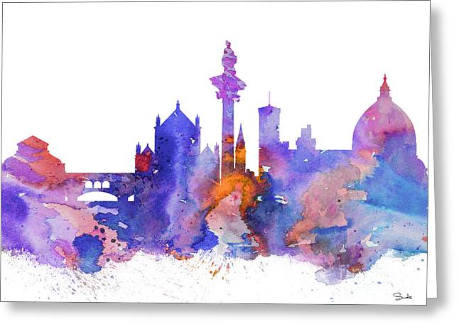 Florence Paintings Greeting Cards - Florence  Greeting Card by Luke and Slavi