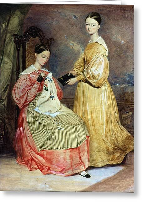 Florence Nightingale (seated) Greeting Card by Granger
