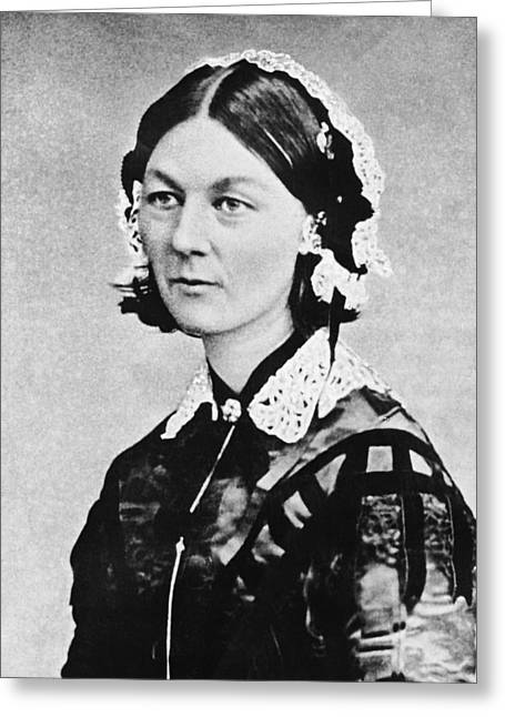 Florence Nightingale Greeting Card by Underwood Archives