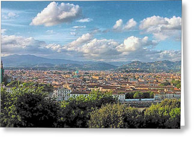 Fiorenza Greeting Cards - Florence Panorama Greeting Card by C H Apperson
