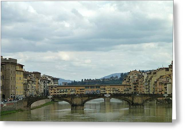 Florence. Ponte Vecchio Greeting Card by Anna and Sergey